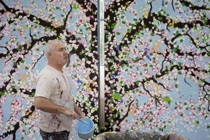 "Damien Hirst ""Cherry blossoms"""